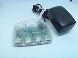D-Link DSB-H4 USB 4-Port Hub With AC Power Adapter DSA-0151A-06A 6VDC 2A - $11.53