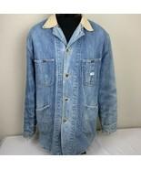 Vintage Lee Denim Blanket Lined Chore Coat Barn Jacket Union Made USA 70... - $139.99