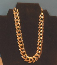 "Vintage Costume Jewelry Coro Designer Signed Necklace 8"" - $14.36"
