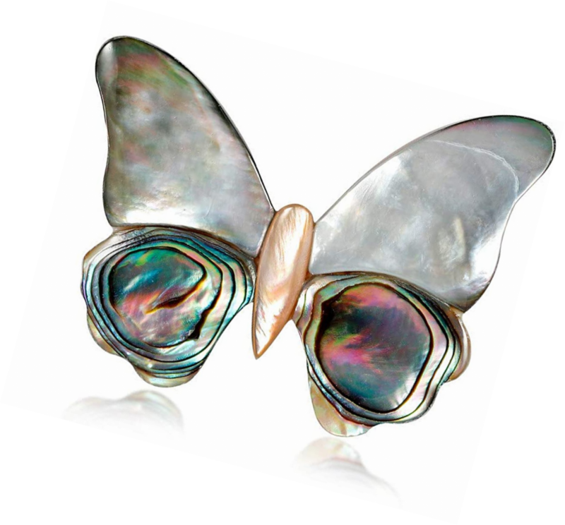 Primary image for Shell Butterfly Brooch Pins for Women,Handmade Craft Corsages Scarf Clip