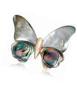 Shell Butterfly Brooch Pins for Women,Handmade Craft Corsages Scarf Clip - $14.06