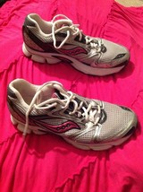 Saucony Cohesion 5 Women's 9M BLACK/ PINK/ Silver Running Sneakers Shoes Eu 40.5 - $25.24