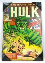 Incredible Hulk #102 Marvel Comics Wood Wall Decor Art Silver Buffalo 2012 - $34.60