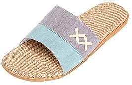 Men's Flax Slippers Indoor Couple Home Floor Slip Heavy-bottomed Slippers - $19.22