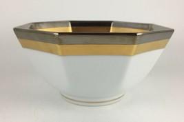 "Fitz & Floyd Platine d'Or Octagonal Vegetable bowl 5 "" - $12.00"
