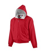 Heavy Duty Men's Hooded Fleece Lined Jacket in Red in Sizes Small to XL - $49.99
