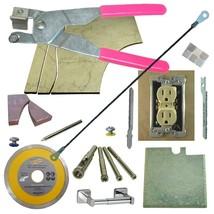 Tile & Glass Cutter Kit Curve Notch Cutout Jigsaw Rodsaw Grinder Blade 5 Drills - $73.87