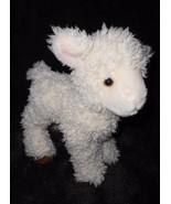 Douglas Lamb Sheep Plush Stuffed Animal Ivory Cream Brown Hooves - $14.83