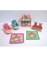 Fisher Price Loving Family Twins Twin Babies High Chair Blankets Chair D... - $44.95