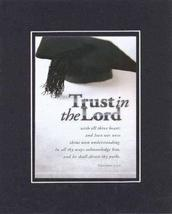 Trust in the Lord 8 x 10 Inches Biblical/Religious Verses set in Double Beveled  - $11.14