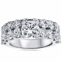 6.00 CT Diamond Enhanced Engagement Ring Set 14K Solid White Gold - £3,359.68 GBP