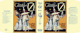 Baum GLINDA OF OZ facsimile dust jacket for first edition book - $22.54