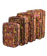 Dumont Paisley 4-Piece Expandable Lightweight Rolling Luggage, Pink - $205.27