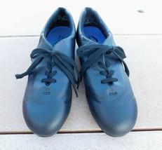 Capezio Tele Tone Black Tap Dance Shoes Lace Up Leather 7 M - $20.00