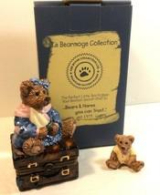 Boyds Collection Le Bearmoge 392008 Bailey Bear w suitcase Figure Trinke... - $14.26