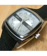 Unused Diesel DZ-1555 Mens 50m Silver Steel Quartz Watch Hours~Date~New Battery - $66.49