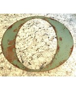"""METAL LETTER 12"""" VTG rusty aged look name initials Letters green Wall """"O"""" - $15.79"""