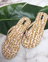 J Crew Fabric Womens Thong Flip Flops Slides Sandals  Sz 9 Pink Gold - €17,08 EUR