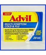 Advil Multi-Symptom Cold & Flu, Pain & Fever Reducer 20 Count Tablets Exp 09/21 - $8.88