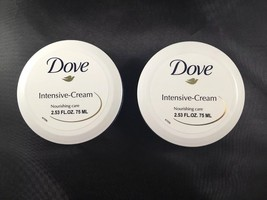 2X DOVE Intensive-Cream Nourishing Care 2.53 oz each Factory Seal Under Cap - $9.49