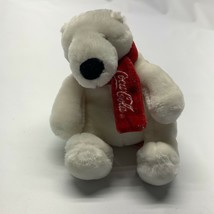 Boyds Bears Coca Cola Polar Bear Sitting Plush Soft Toy Stuffed Animal Red Scarf - $15.43