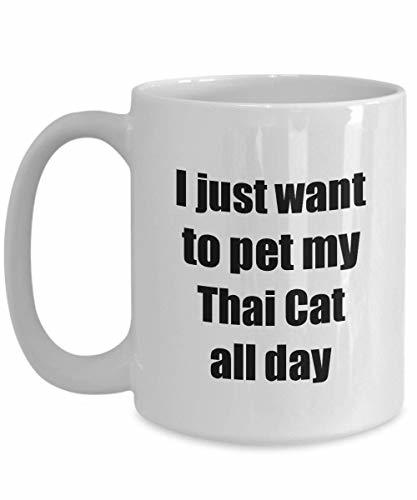 Primary image for Thai Cat Mug Lover Mom Dad Funny Gift Idea Gag Coffee Tea Cup 15 oz