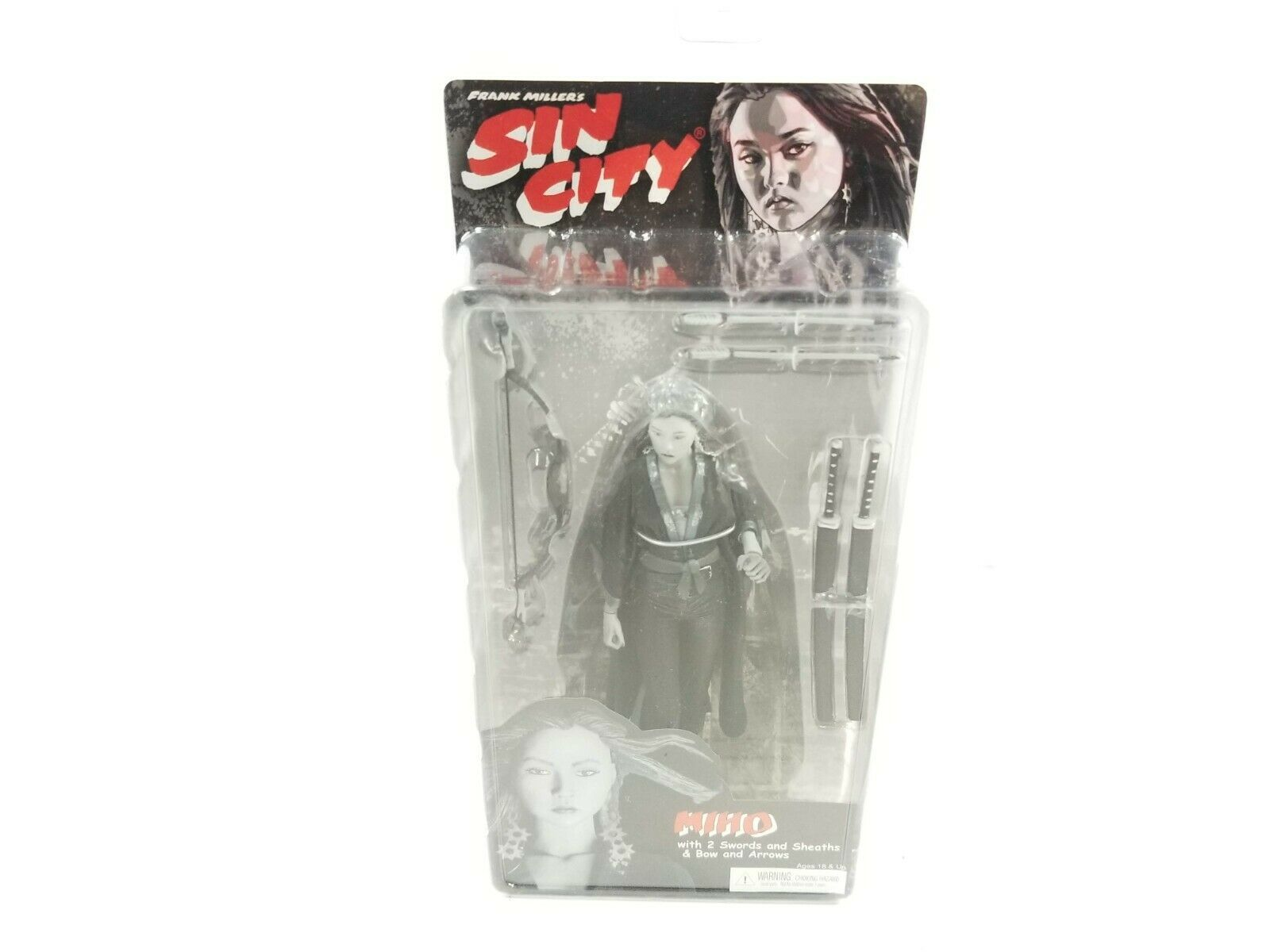 NECA Sin City Series 2 Miho Black and White Figure w/ 2 Swords New & Sealed 2005 - $27.23