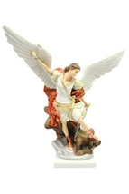 "16"" Saint Michael Archangel Catholic Religious Statue Sculpture Made in ... - $134.99"