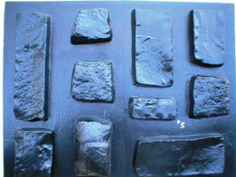 OKL-43 - 5 SETS OF CONCRETE LIMESTONE MOLDS (43) MAKE 1000s OF ROCK WALL VENEER image 5