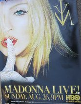 Madonna Live HBO Aug. 26,2001 Rare Giant Poster app 4'x6' - $49.99