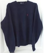 Ralph Lauren Polo Navy Blue Crew Neck Pullover Sweater Ralph Lauren Logo... - $20.29