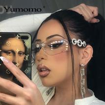 Yumomo Crystral Sunglasses Women Men Fashion Personlity Windshield UV Protection image 1