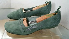 Clarks Artisan Women's Green Suede Leather Loafers Size 9.5 N - $24.74