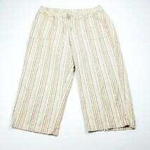 Lee Just Below The Waist Womens Crop Capri Pants Size 18 Med Linen Blend - $11.64