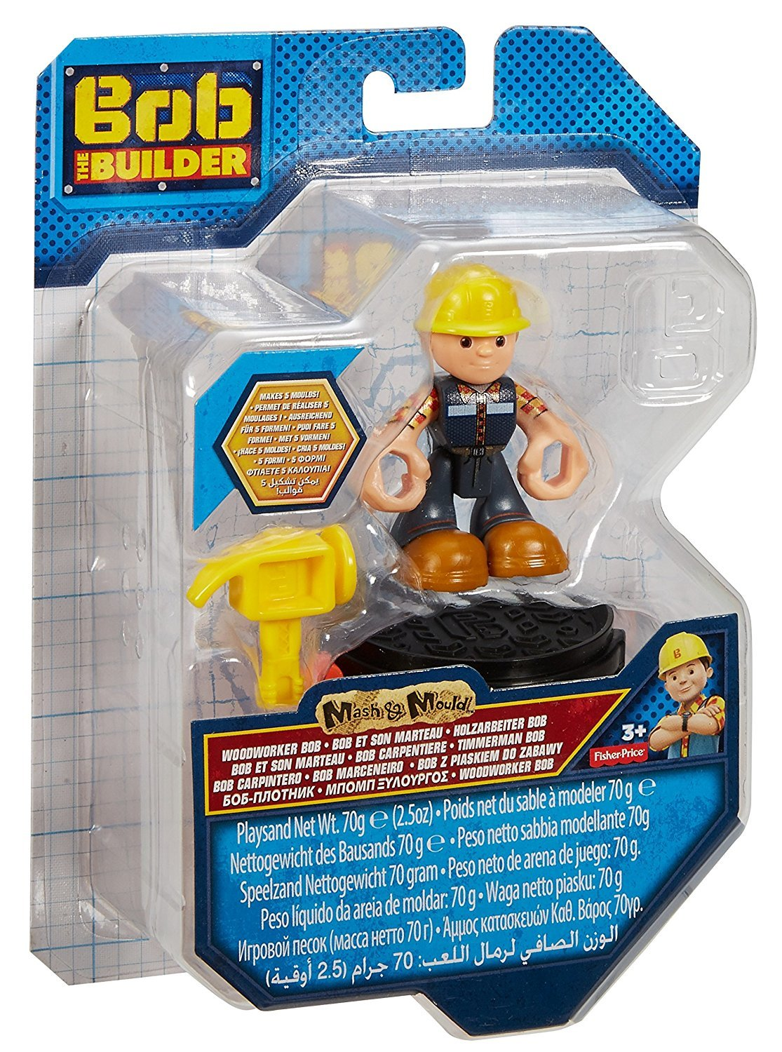 Bob the Builder Mash and Mould Set Figure Playsand Fisher-Price