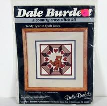 "Dale Burdett CK231 ""Teddy Bear"" County Cross Stitch Kit Usa 1985 7"" X 7"" - $26.44"