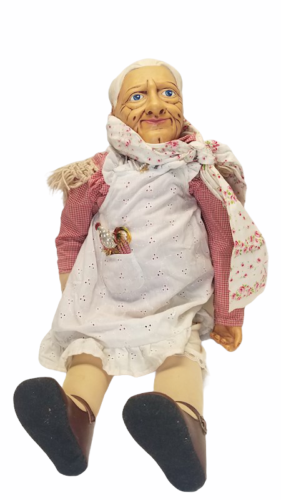 "Vtg 1980 Billie Peppers 30"" Grandma Grandmother Woman Doll Granny Meemaw Nana"