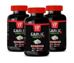 garlic supplement - ODORLESS GARLIC & PARSLEY 600mg - garlic detox 3B - $35.49