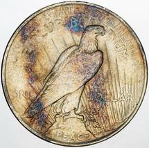 1922-P PEACE SILVER DOLLAR BU BEAUTIFUL NATURAL COLOR TONED PRIME UNC (MR) - $197.99
