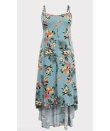Torrid SEA GREEN FLORAL CHALLIS HI-LO MAXI DRESS Size 0  11843619 - $32.96