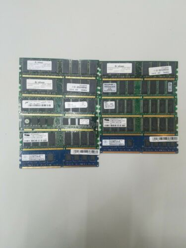 Primary image for (LOT of 11) PC RAM Infineon, ValueRAM, Samsung, ProMOS, Nanya,