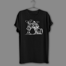 Inspired Drummer Black T-Shirt Drums T Shirt Cool Musician Band Tee Part... - $17.99