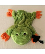 Gund Plush Frog With Bat Hand Puppet 319551 Fly On The Wall Playful Puppets - $14.99