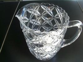 Vintage Daisy Dot Design Small Glass Pitcher - $39.99
