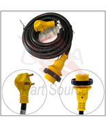 25 Foot 30 Amp RV Extension Power Cord 100% Copper Wires Trailer Motorho... - $59.99