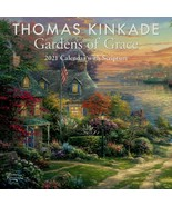 Thomas Kinkade ~ Gardens of Grace 2021 Mini Wall Calendar with Scripture... - $2.96