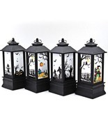 Bat Pumpkin Castle Witch Pattern Hanging Light Lantern Halloween Party D... - £6.12 GBP+