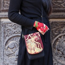 Ethnic Embroidery Bag Vintage Canvas classical phoenix, coin purse, phon... - $23.50