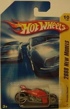Hot Wheels 2008 New Models Orange Canyon Carver Motorcycle NIB Mattel NIP 10/40 - $6.67