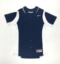 New Nike Vapor Full-Button Softball Performance Jersey Women's M Navy 63... - $18.65